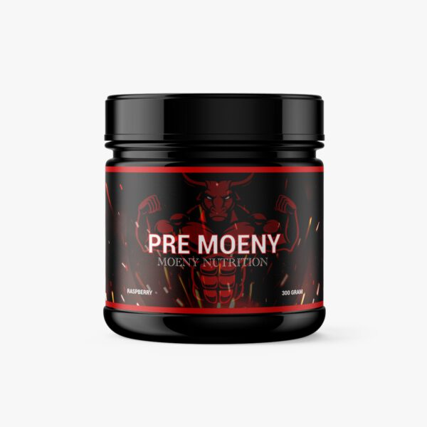 Moeny Nutrition Pre Moeny sour raspberry product foto supplementen